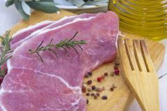 fillet of fresh red meat beef - stock photo
