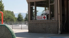 first aid station - stock footage