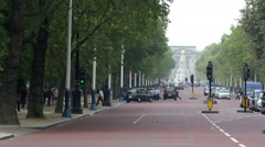 Pall Mall London with palace in distance Stock Footage