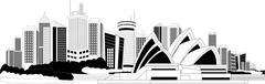 Downtown skyline - stock illustration