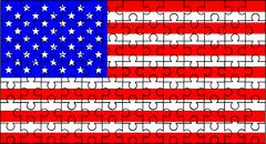 Stars and stripes jigsaw Stock Illustration