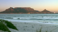 Table Mountain from Table Bay Stock Footage