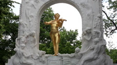 JOHANN STRAUSS MONUMENT Stock Footage