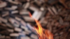 Flames of fire inferno abstract background - stock footage
