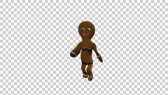 Stock Video Footage of Gingerbread Dancer - Choco - Girl - Full HD - Alpha Channel