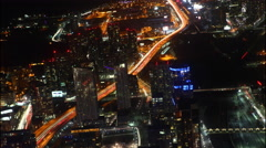 4K UltraHD A timelapse aerial view of Toronto, Canada at night Stock Footage