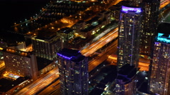4K UltraHD A timelapse aerial view of Toronto at night Stock Footage
