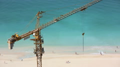 Time lapse construction real estate building Dubai economy beach tourist tourism Stock Footage