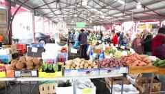Consumers at the Queen Victoria Market in Melbourne, Australia. Stock Footage