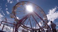 2d ferris wheel Stock Footage