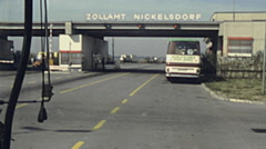 Hungary 1983: border between Hungary and Austria Stock Footage