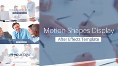 Stock After Effects of Motion Shape Display - After Effects Template