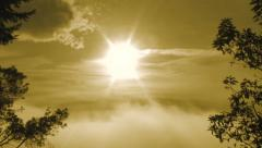 Sunny and Warm Humid Sky Stock Footage