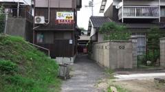 Handheld Point Of View POV Walking Thru Japanese Village 4K Stock Footage