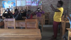 African Students In A Class In Rwanda Stock Footage