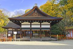 Shimogamo-jinja Shrine (Kamomioya - jinja), Kyoto, Japan - stock photo