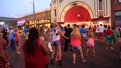Folks Having Fun Dancing on Beale Street, Memphis. - stock footage