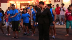 Pedestrians and Tourists Dancing in the Streets of Memphis, TN Stock Footage