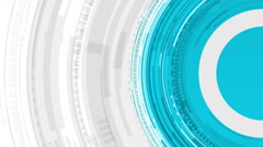 Technology concept spinning circles. Stock Footage