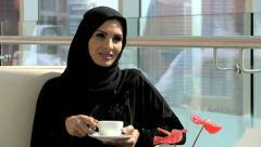 Dubai Arabic business male female city stocks shares economy export industry - stock footage