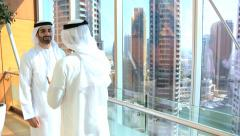 Arabic male business Gulf Region travel real estate property investment industry Stock Footage
