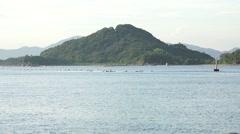 Mountain Island Near Seaside Town Of Naoshima Japan 4K Stock Footage