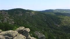 Panorama of beautiful mountains and Aegean coast. Stock Footage