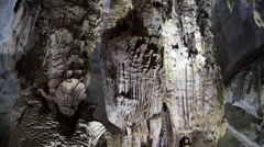Rock Formations Inside Phong Nha Cave, Phong Nha-Ke Bang National Park, Vietnam Stock Footage