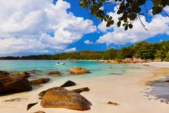 beach anse lazio - seychelles - stock photo