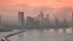 Panama City Traffic And Cars On Highway Near Ocean 4K - stock footage