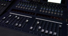 Footage of an audio mixer with different audio presets Stock Footage