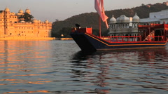 View of The City Palace in Udaipur Stock Footage