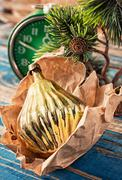 preparing decorations for new year holidays - stock photo