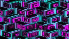 Neon Pattern 001 B Alternate Random TC 4K Stock Footage