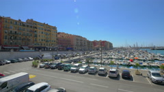 View on harbor of Nice, France, 4k, UHD Stock Footage