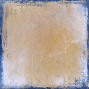Vintage sepia background with blue borders - stock illustration
