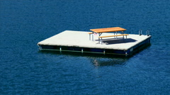 Floating Picnic Table On Willowa Lake Stock Footage