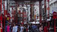 Stock Video Footage of Chinatown London street scene