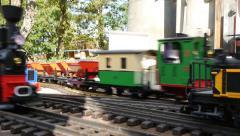 Hobby garden railway Stock Footage