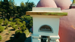 Multicopter starts shooting above from the dome of Greek Orthodox Church Stock Footage