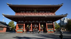 Sensoji Temple in Asakusa, Tokyo Japan Stock Footage