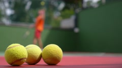 Play Tennis Stock Footage