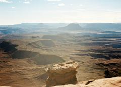 USA, Utah, Canyonlands National Park, View of barren landscape Stock Photos