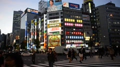 Neon lights and nightlife in Shinjuku Tokyo, Japan Stock Footage