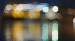 Abstract colorful blinking bokeh background Stock Footage