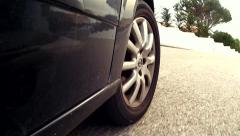 Car Mounted Camera, Wheel Close View - stock footage