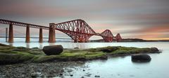 UK, Scotland, Low angle view of Forth Rail Bridge Stock Photos