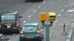 Automatic Number Plate Recognition Cameras & Road Traffic Stock Footage