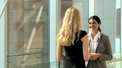 handshake female Russian Hispanic business real estate property development - stock footage