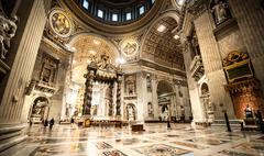St. Peter's Basilica in Vatican inside Stock Photos